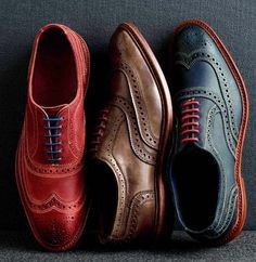 Colourful wingtips.
