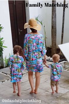 Wonderful Bali Holiday in Family Matching Flamingo Clothing - Ladies and Girls Kaftans and Boys Hawaiian Shirts. #matchymatchy #kaftan #bali #baliholiday #familymatching #flamingoparty #flamingoshirt #flamingodress