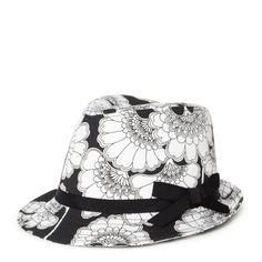 Japanese floral fedora