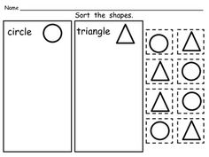 FREEBIE! Shape Sorting Pages