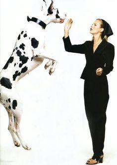 H Kate με το Μεγάλο Δανό...