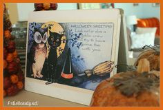 ART IS BEAUTY: Modge Podge and an Old Door; Halloween Decor