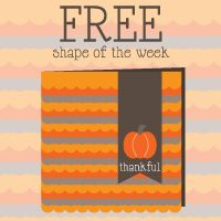 Silhouette Blog: FREE Shape of the Week 10/9 :: Thankful Card