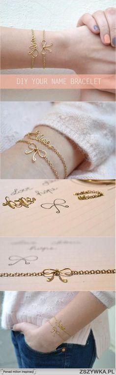 diy, diy projects, diy craft, handmade, diy your name bracelet na diy accessories - Zszywka.pl