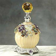 Beige Classic Hummingbird Perfume Bottle
