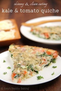 Skinny Kale & Tomato Quiche