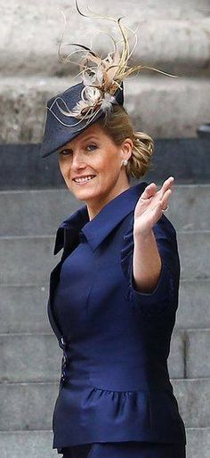 Sophie, Countess of Wessex pictured wearing her hat designed by milliner Jane Taylor.