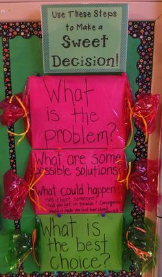 Entirely Elementary...School Counseling. Great intermediate (4th /5th) lesson on decision making.