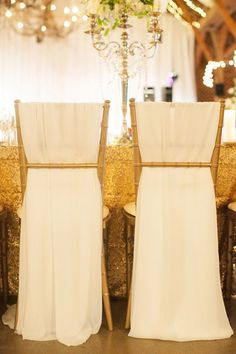 pretty chair draping | Nancy Ray Photography #wedding