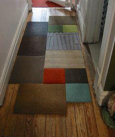 Carpet remnants rug