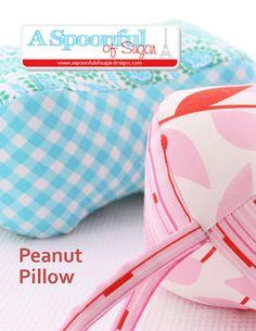 Peanut Pillow PDF Sewing Pattern by aspoonfullofsugar on Etsy