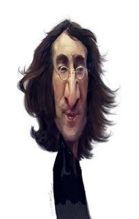 Artist:Jan Op De Beeck   Caricature:John Lennon