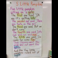 Class reading of a festive Halloween poem.