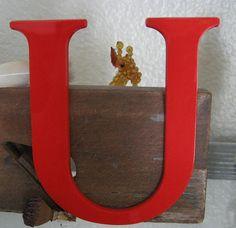 """""""U"""" for the alphabet wall"""