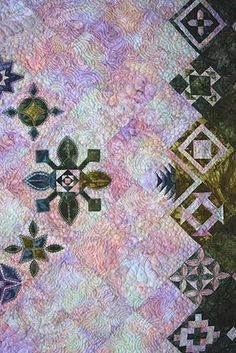 close up of quilting:  Jeepers, It's Jane:  Dear Jane by Beth Schillig.  September 2014 workshop, posted at Quilted Joy