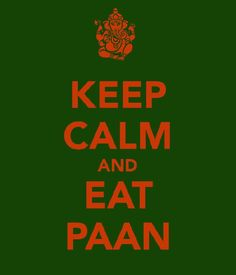 Signs/Posters for the paan corner