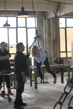 Kate Morgan (Yvonne Strahovski) chained and dangling in 24: Live Another Day