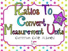 Using Ratios to Convert Measurement Units **QR CODE Task Cards**