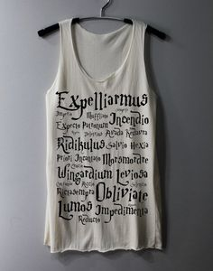 Harry Potter Spell Shirt Magic Spell Shirts Tank Top Tunic TShirt T Shirt on Etsy, $16.00 oh. my. frikin heck. life=complete?
