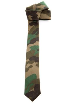 Camo skinny tie.