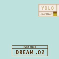 YOLO Colorhouse DREAM .02:  Robin's egg blue.  Familiar and comfortable -- it feels like home.  Use in baths and kitchens. $35.95