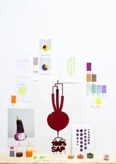 Vegetable juices as ink by Raw Color.