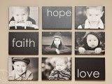 ideas for displaying family portraits