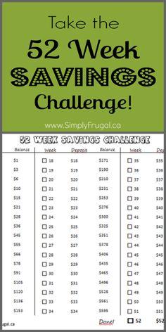 Take the 52 week Savings Challenge to save $1,378 this year! Save Challeng