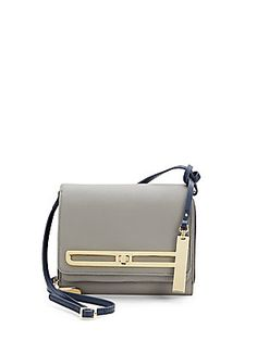 Vince Camuto Two-Tone Leather Crossbody Bag
