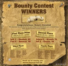 #Hayward #pool #Bounty Contest Winners
