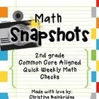"""This file contains 45 """"Math Snapshots"""" so you can assess your 2nd graders' learning in a snap!  Each half page assessment is CCSS aligned and will ..."""