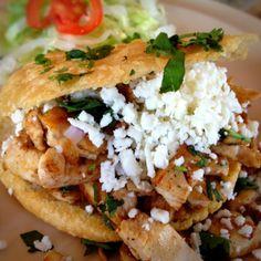 Pollo Gordita @ Los Carboncitos - Authentic gordita! Taco Bell ain't got nothin' on this :)