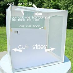 Outdoor Light Box made with Parchment Paper