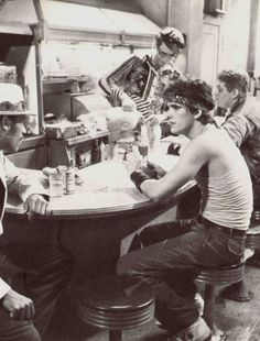 "Matt Dillon, Tom Waits and Laurence Fishburne in ""Rumble Fish"""