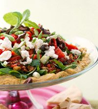 Mediterranean Eight-Layered Dip. A bit involved, but oh so awesome! Made it Friday night!