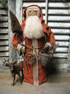 http://1897houseprimitives.blogspot.com/  Sunday Dec 2, 2012 primit santa, prim santa, santa ii, santa claus, ole santa