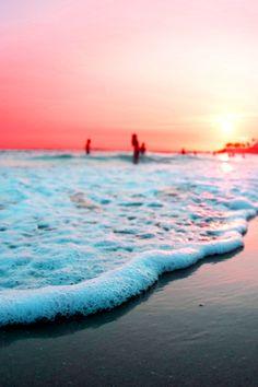 beach sunset pinl