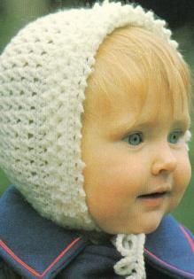 free crochet baby bonnet pattern