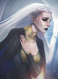 Manon | Writing inspiration writers block character prompt fantasy white hair female heroine protagonist profile