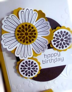 Stampin' Up! Birthday  by Chat Wszelaki at Me, My Stamps and I: Blossom Flower Punch