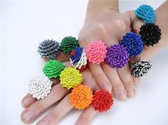 Duct tape flowers, cute!