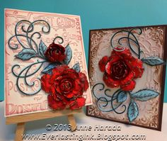 Everlasting Ink:  Red Rose Cards