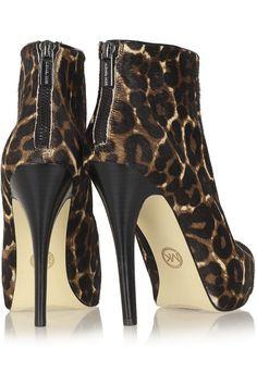 MICHAEL Michael Kors Cynthia leopard-print calf hair boots NET-A-PORTER.COM