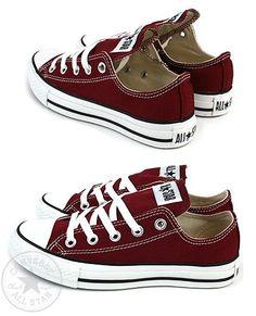 Burgundy Chucks - I want these yes I do =)