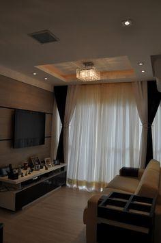 Apartamento 2 dormitórios em Bauru/SP - Projeto e Execucao Designer Anizio Monteiro: Sala Dois Ambientes e Varanda