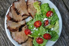 Grilled Pork Tenderloin with Balsamic Vinegar #pork #balsamic #tenderloin #grilling