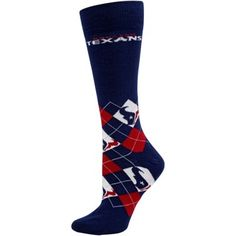 Houston Texans Ladies Argyle Socks - Navy Blue