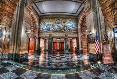 Buffalo City Hall Lobby    Buffalo, New York  http://www.travelandtransitions.com/our-travel-blog/