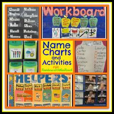 Name Charts, Name Recognition, Name Activities (RoundUP via RainbowsWithinReach)