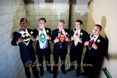 This is awesome! Secret super groomsmen!